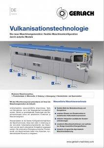Gerlach Vulkanisationstechnologie Änderungen Maschinenkonzept